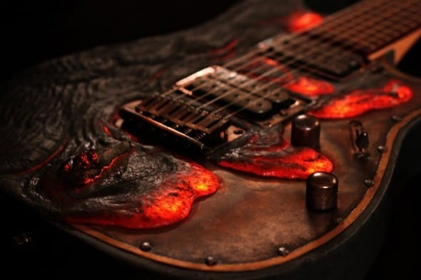 Your guitar's so hot, it melted!