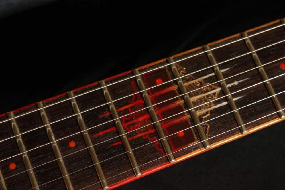Hutchinson Guitars Molten Diabolic Guitar Fret Detail