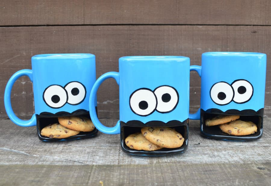In A Glaze Cookie Monster Dunk Mug Cute Gift for Her