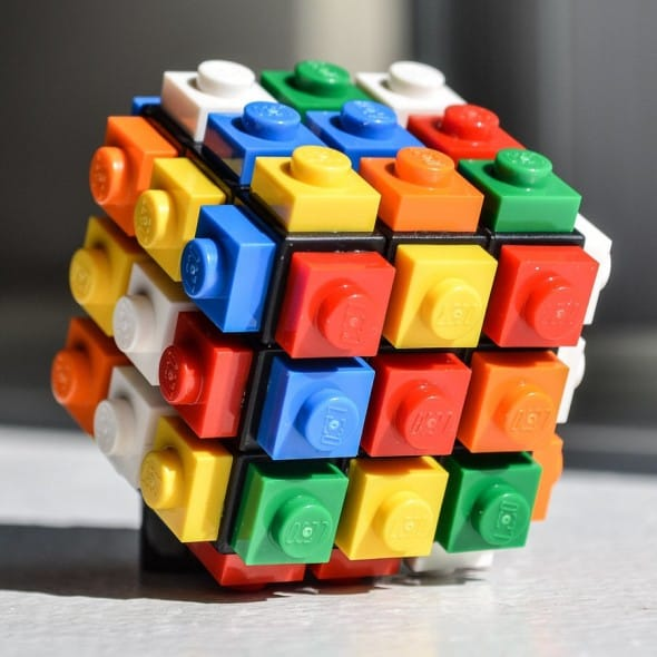 Rubik's Cube with a Lego twist.