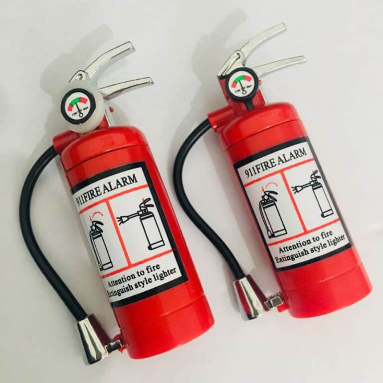 Mini Fire Extinguisher Lighter and Flashlight Gift Idea For Smokers