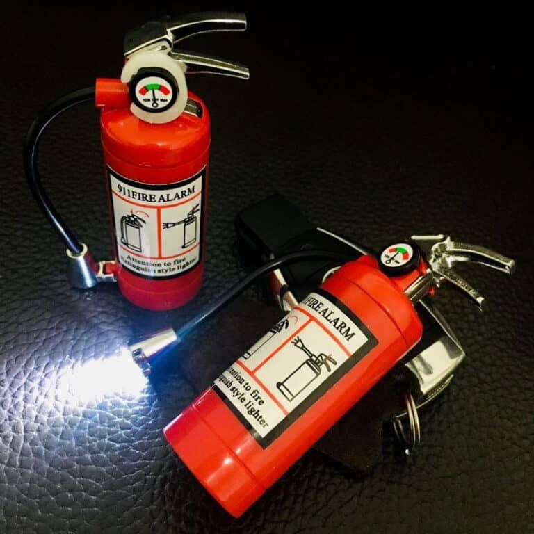 Mini Fire Extinguisher Lighter and Flashlight LED