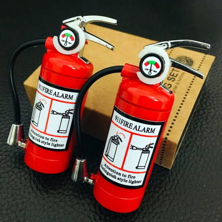 Mini Fire Extinguisher Lighter and Flashlight Manly Novelty Item