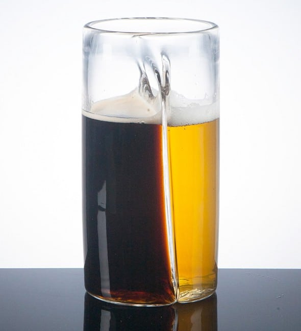 Pretentious Beer Glass Dual Beer Glass Cool Gift to Buy Him