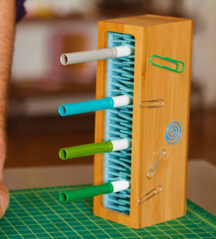 Quirky Writers Block Marker Organizer