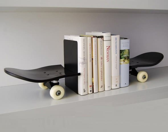 Skate Home Skateboard Bookends Buy Cool Gift for Teenagers