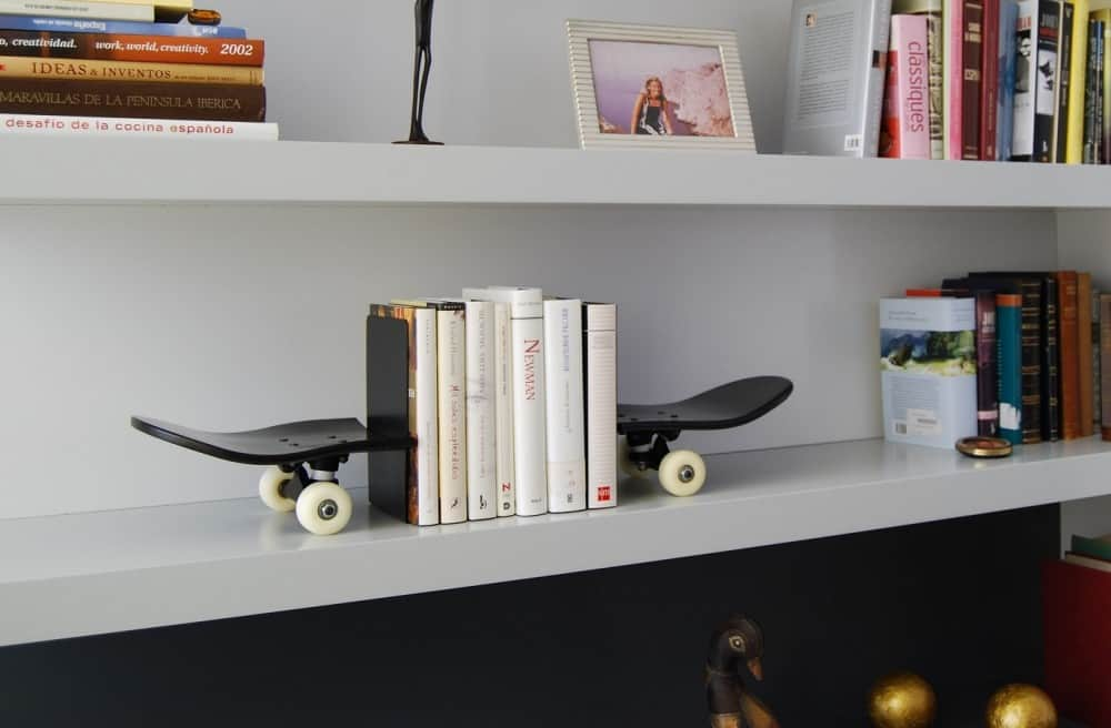 Skate Home Skateboard Bookends Hip Gift Idea to Buy