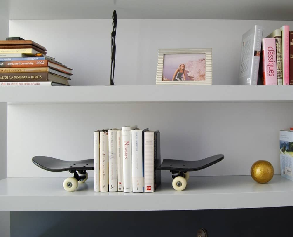 Skate Home Skateboard Bookends Hipster Gift Idea
