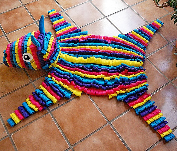 Some Rabbits Felt Piñata Skin Rug Cinco De Mayo Decoration