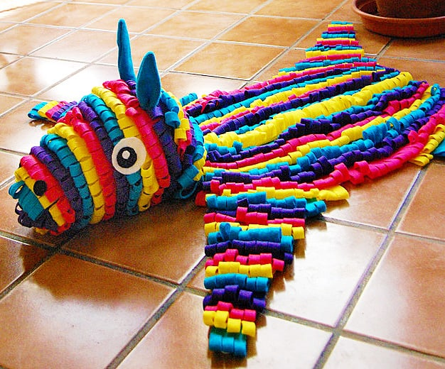 Some Rabbits Felt Piñata Skin Rug Cool Party Decoration
