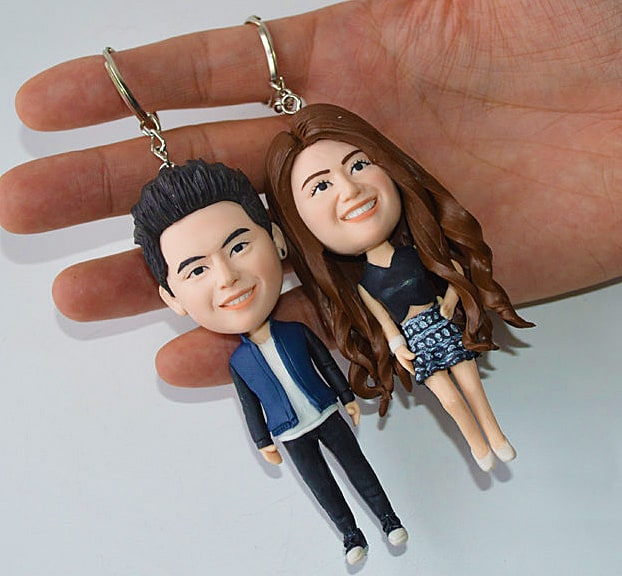 Vivan Topper Studio Personalized Couple Keychain