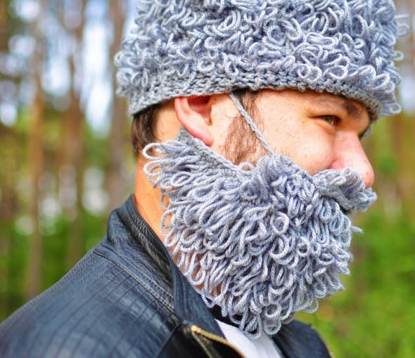 Warm Yourself Lumbersexual Crochet Beard Cool Gift for Him