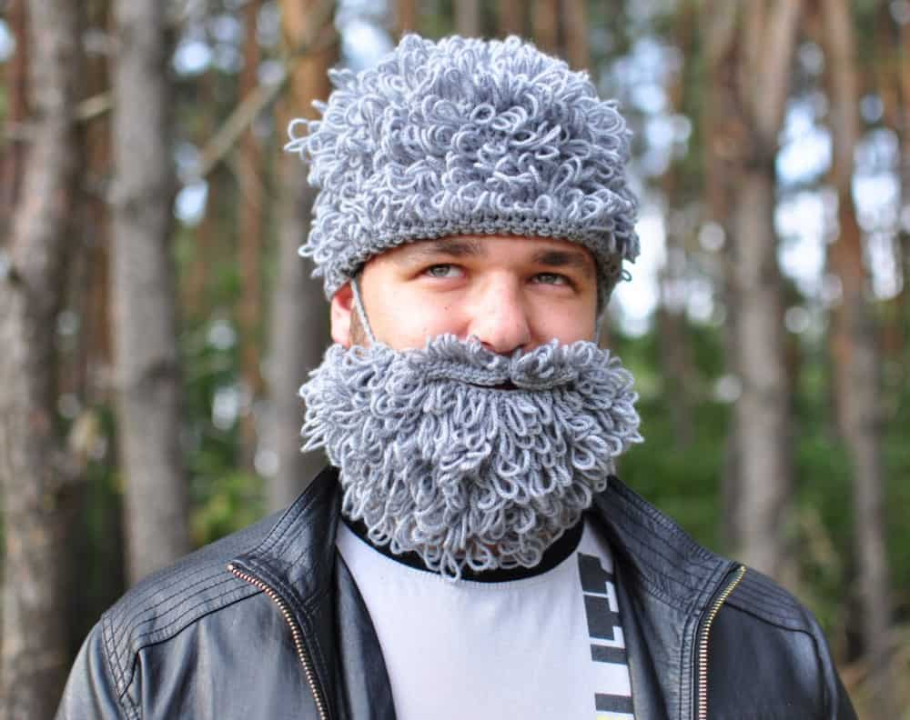 Warm Yourself Lumbersexual Crochet Beard Funny Winter Accessory