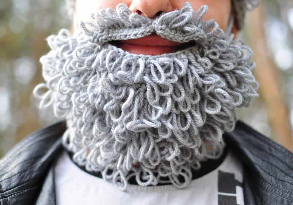 Warm Yourself Lumbersexual Crochet Beard Winter Must Have