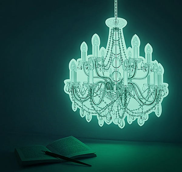 Light up your wall with a glowing chandelier.