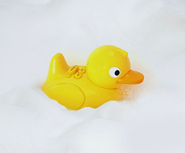 Rub-a-dub-dub, musical duck in a tub.