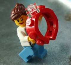 This red Lego ring says it all!