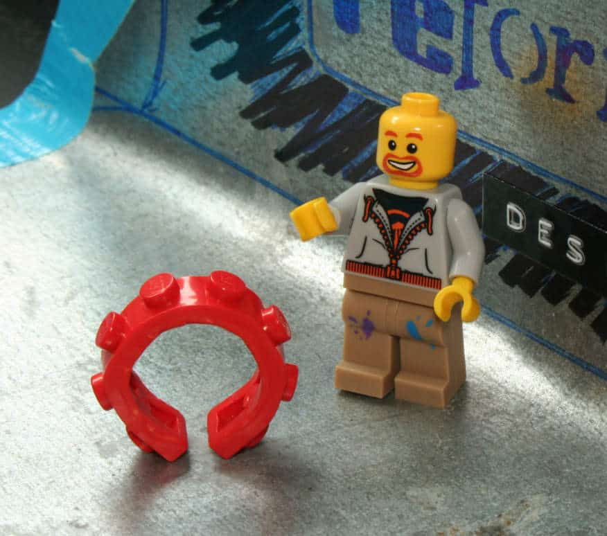 reForme Single Wide Lego Ring Geeky Fashion Accessory