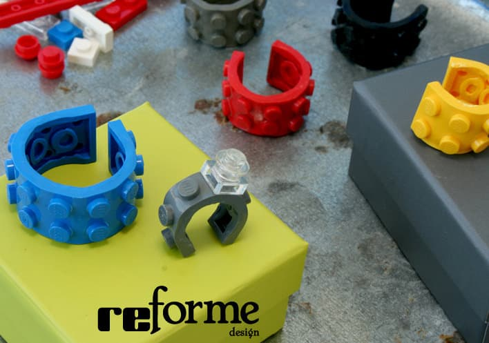 reForme Single Wide Ring Lego Playful Accessory