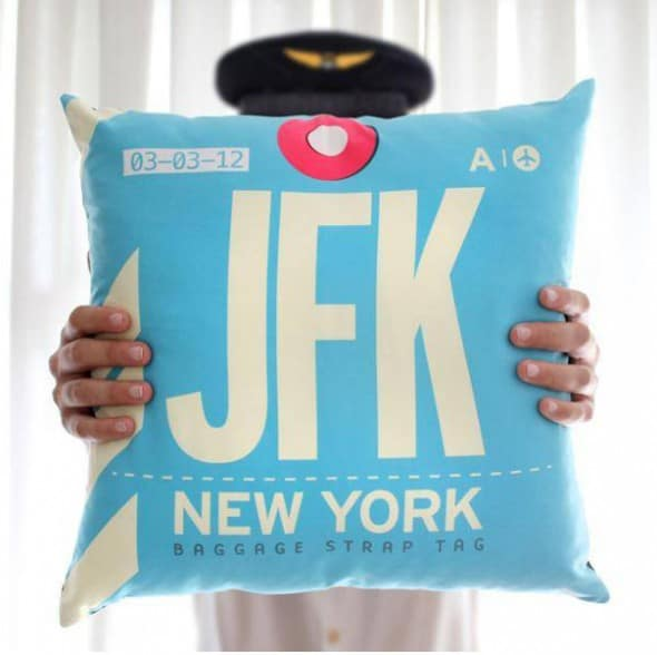 Airportag JFK Throw Pillow Cool Things to Buy Her