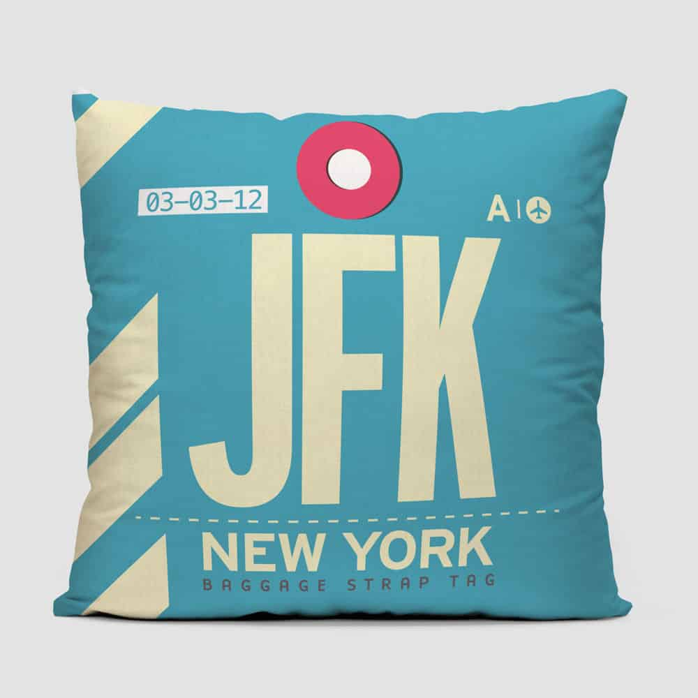 Airportag JFK Throw Pillow Trendy Product Design