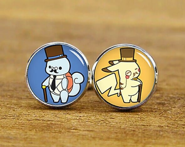 Artfire Supplies Custom Pokemon Cufflinks