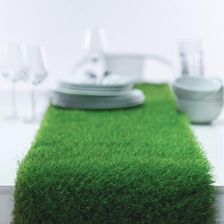 Artificial Grass Table Runner Party Decoration