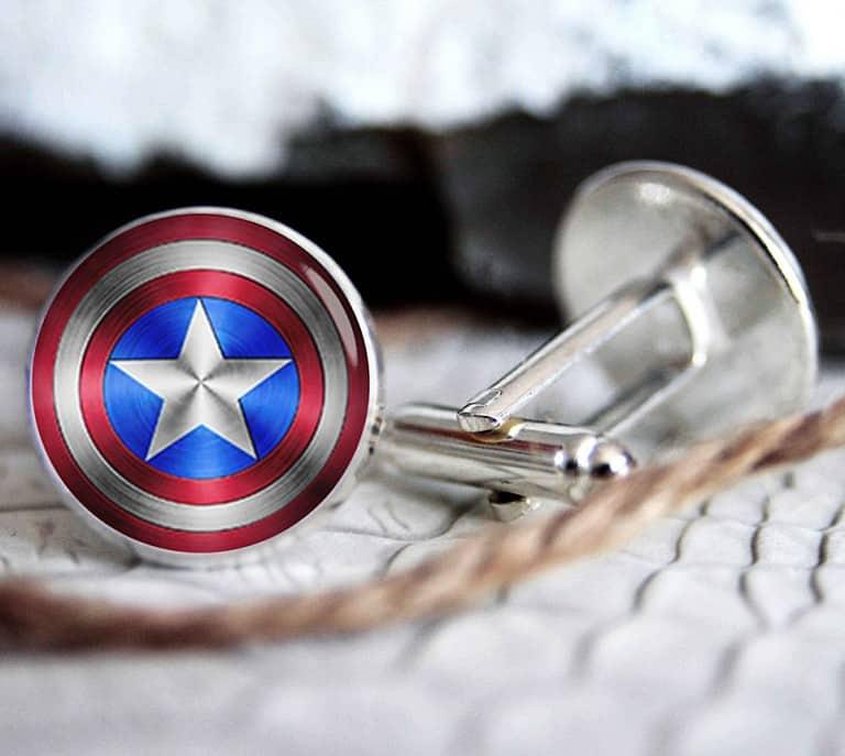 Blue Agave Studio Captain America Cufflink