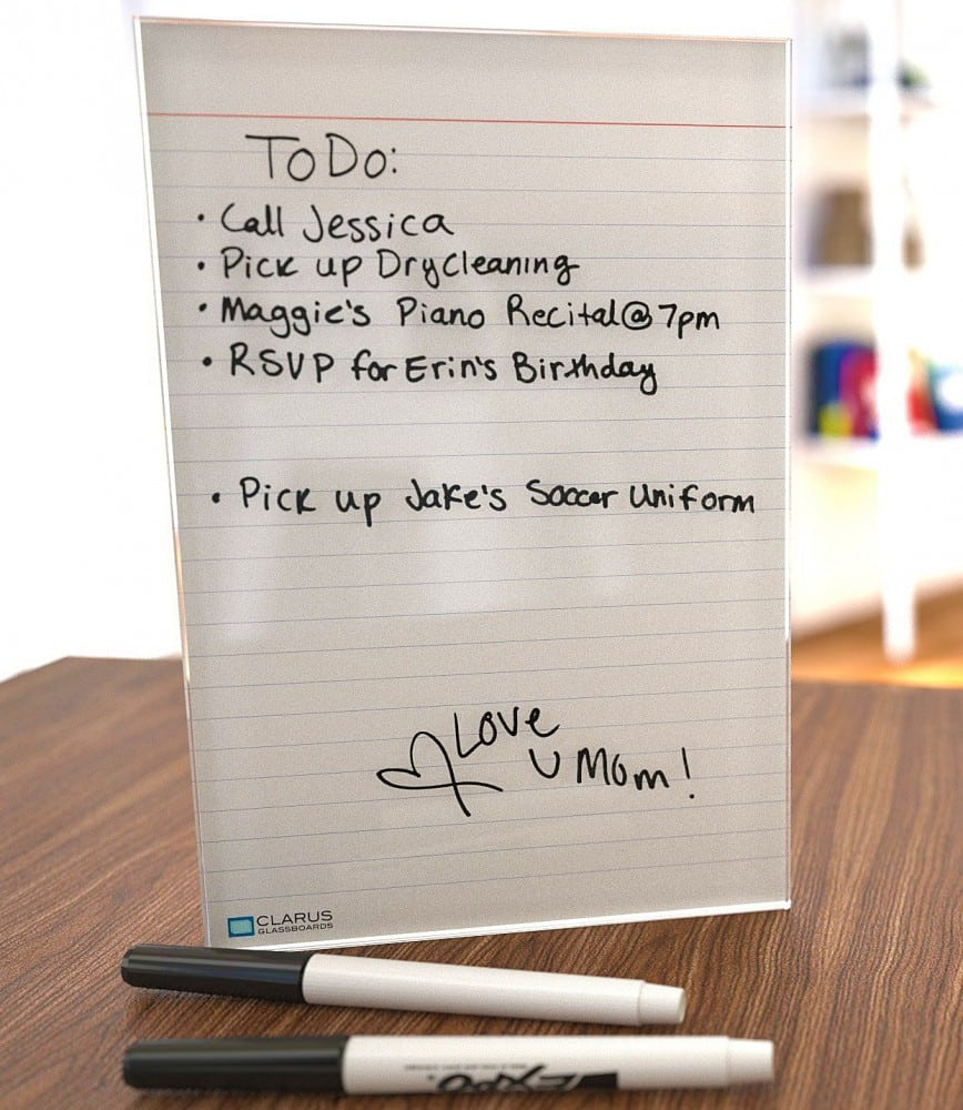 Clarus Glassboards Dry Erase Notepad Tablet Office Gift Idea