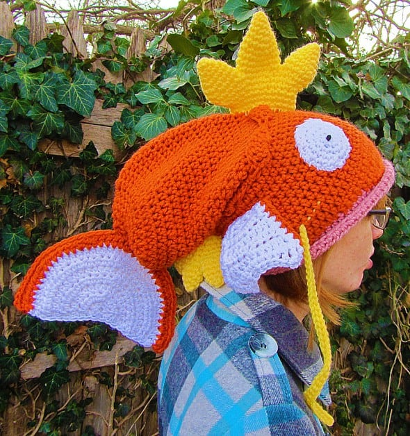 Corlista Magikarp Pokemon Crochet Hat Cute Things to Buy
