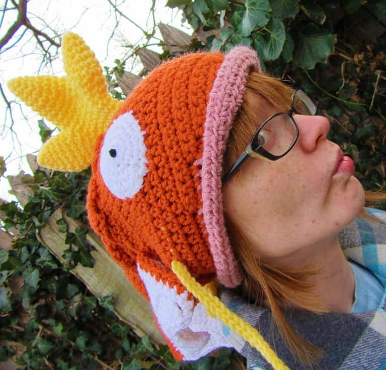 Corlista Magikarp Pokemon Crochet Hat Gamer Girl Gift Idea