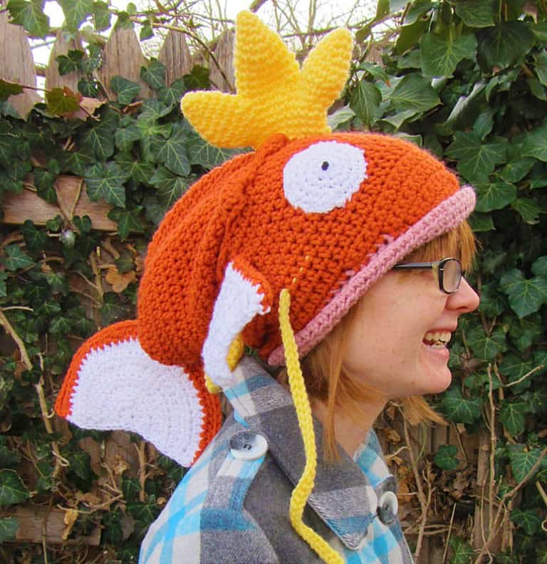 Corlista Magikarp Pokemon Crochet Hat Geek Girlfriend Gift Idea