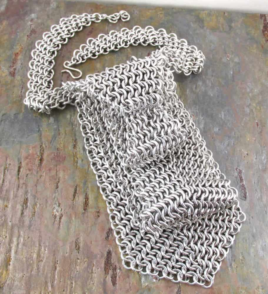 Creative reflections chainmail neck tie noveltystreet this necktie will grab everyones attention because its made of actual chain mail thats right you can look professional and badass at the same time bankloansurffo Image collections