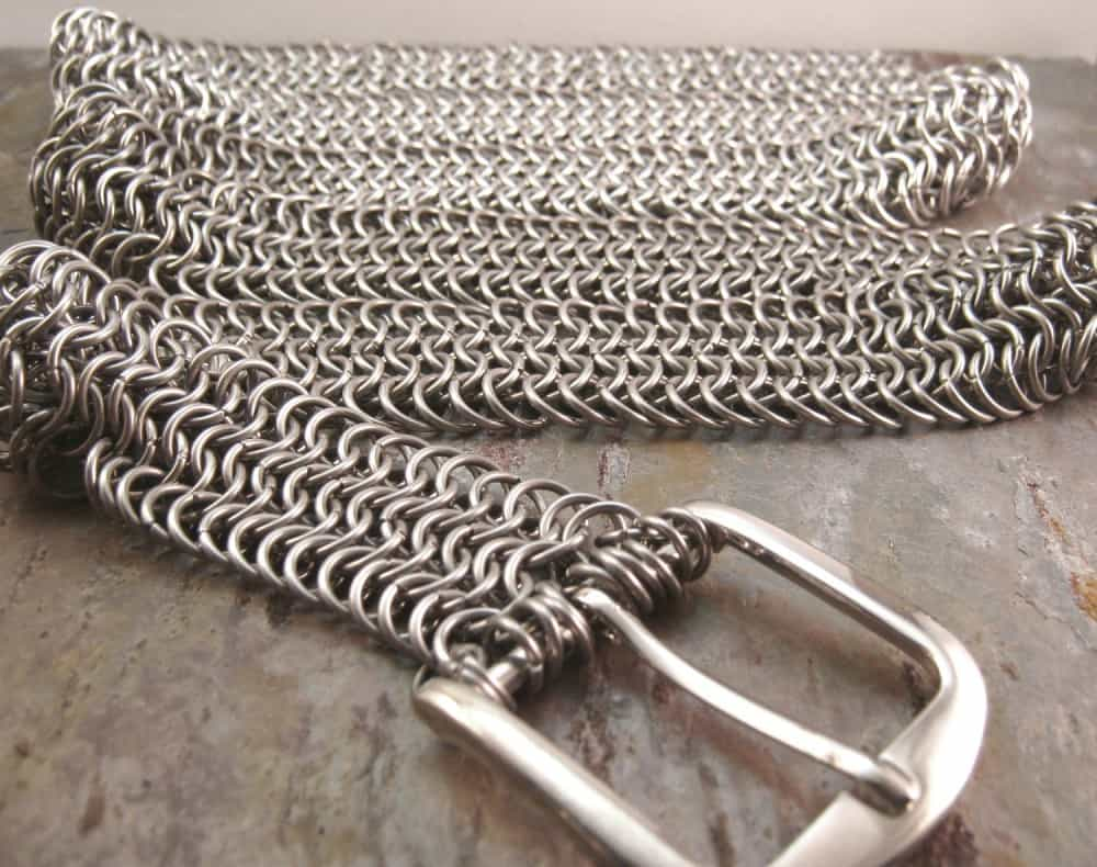 Creative Reflections Stainless Steel Chainmail Belt Extreme Fashion