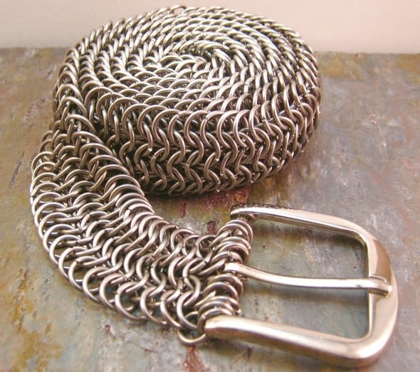 Creative Reflections Stainless Steel Chainmail Belt Unique Fashion