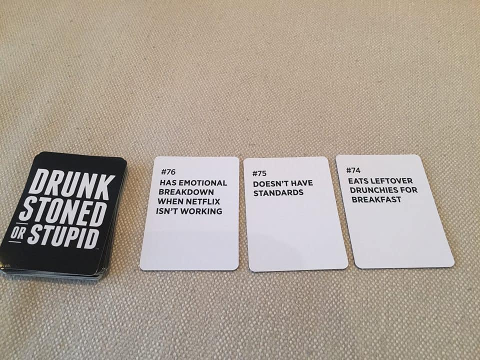 Drunk Stoned or Stupid Party Game  Board Game Alternative