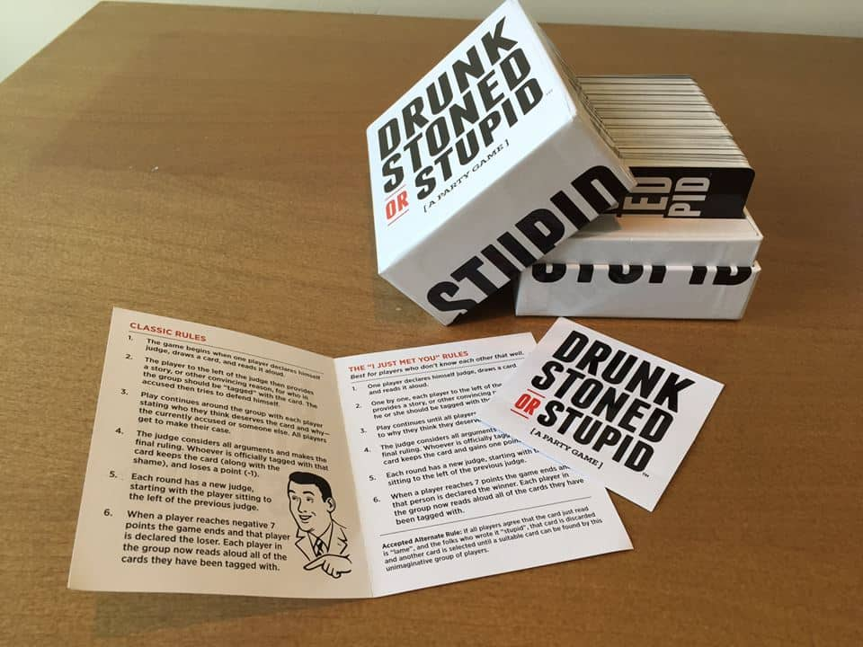 Drunk Stoned or Stupid Party Game Classic Rules