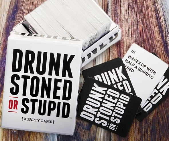 Drunk Stoned or Stupid Party Game Fun Cool Board Game Alternative to Buy