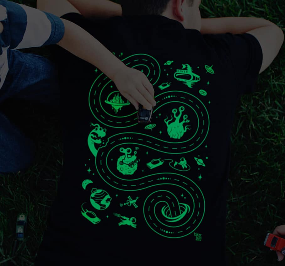 Have fun with the kids wearing a glowing shirt.