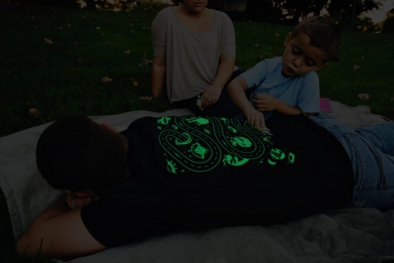 Glow in the Dark Space Shirt Playful Fashion
