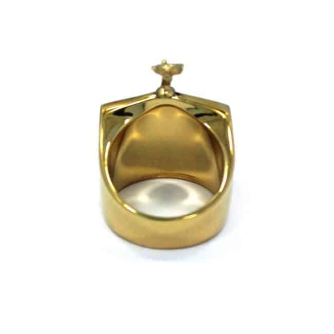 Han Cholo Grill Ring Gold Rear View