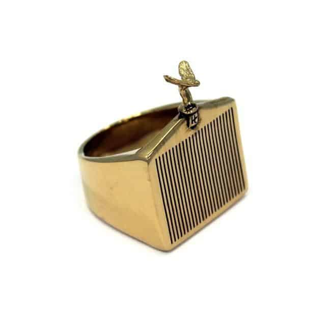 Han Cholo Grill Ring Gold Right Side View