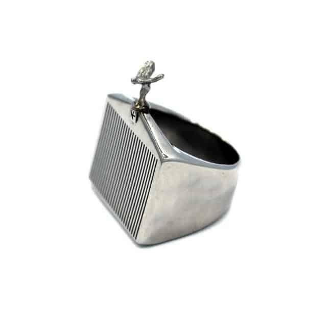 Han Cholo Grill Ring Silver Left Side View