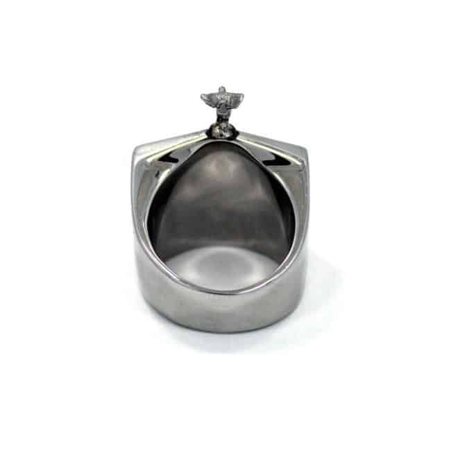 Han Cholo Grill Ring Silver Rear View