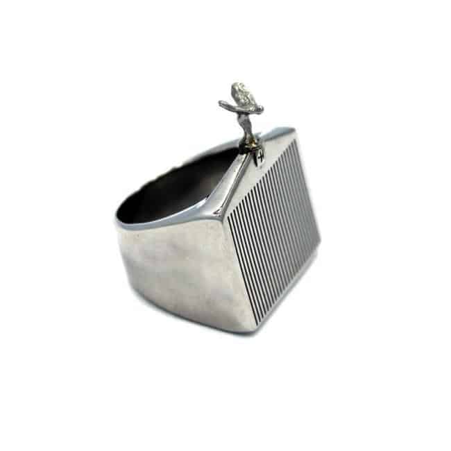 Han Cholo Grill Ring Silver Right Side View