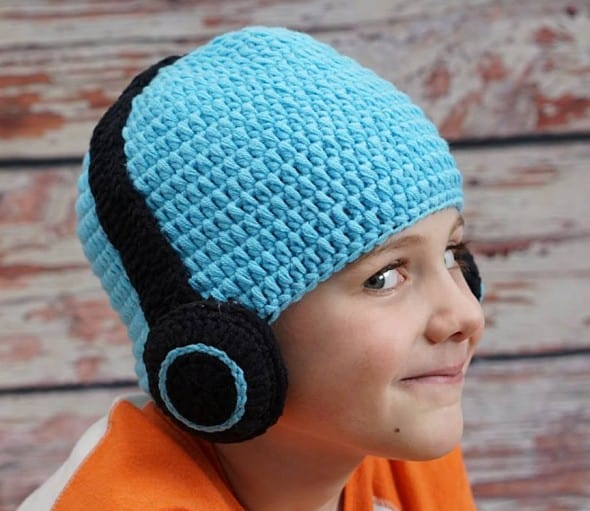 Hug A Bug Kids Crocheted Headphone Hat Buy Gift for Kids