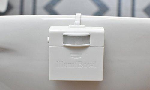 IllumiBowl Motion Activated Toilet Night Light Bathroom Accessory