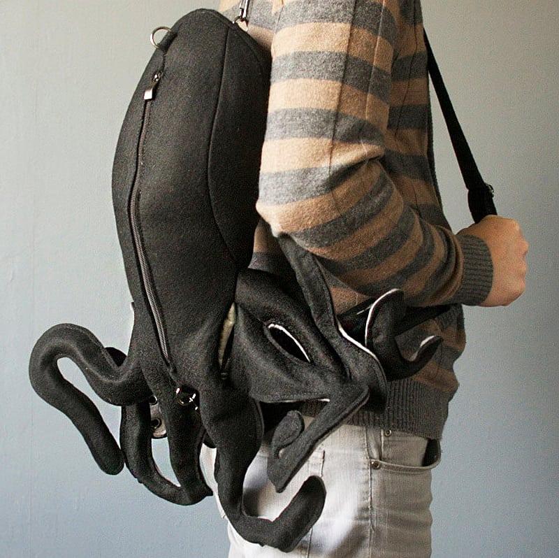 The inking man's knapsack.
