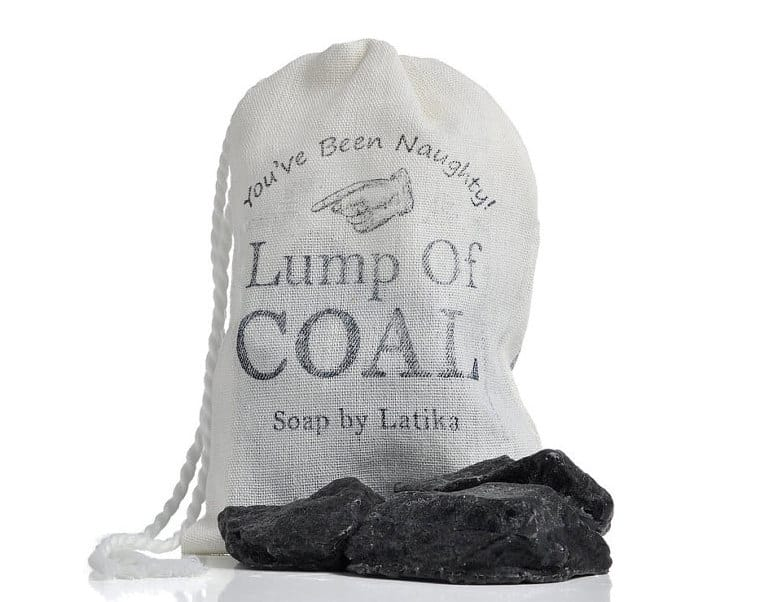 Latika Soap Bag of Coal Soap Weird Stuff to Gift