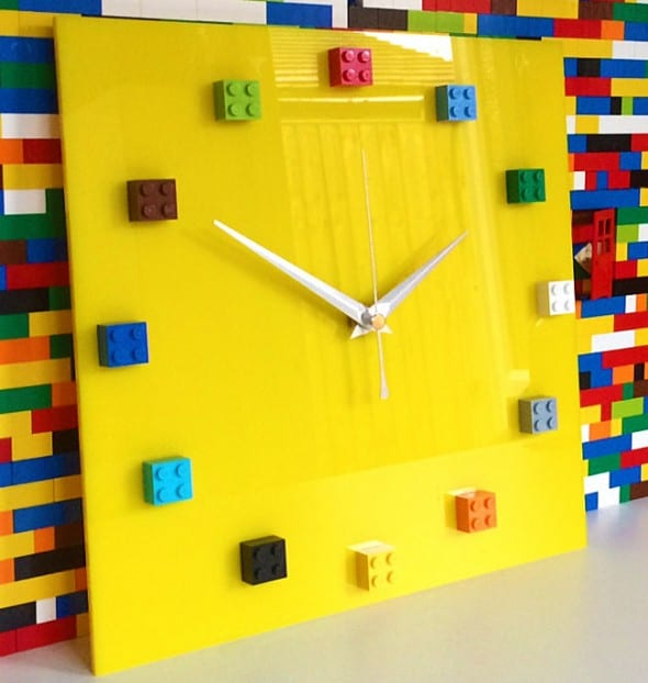 MOnki Stuff Handmade Lego Wall Clock Cool Stuff to Buy for Her